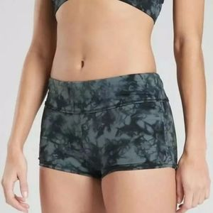 NWT Athleta Shadow Dye Scrunch Swim Short Bottom
